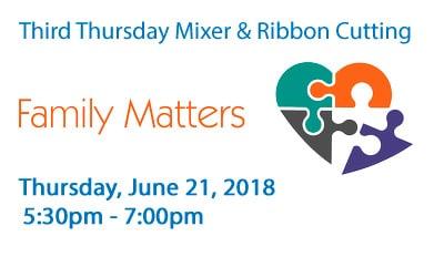 Third Thursday Mixer & Ribbon Cutting - Family Matters, at FSTC